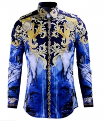 Royal Wind senior printing tide brand men 's shirts high - end men' s shirts as the picture xl