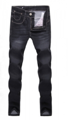 Colorful jeans male Korean Slim pants stretch Teen boys tide jeans black 28
