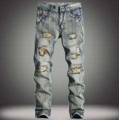 Men 's jeans, nostalgia, jeans, straight jeans fashion wave brand men' s trousers as the picture 29