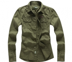 Cotton shirt Men 's Code Men' s British uniforms long - sleeved shirt tooling shirt armygreen m