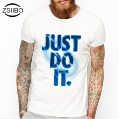 Have a  Customized for yourself - ZSIIBO DIY letter T-shirt Men's short sleeve Cultural shirt 1# m