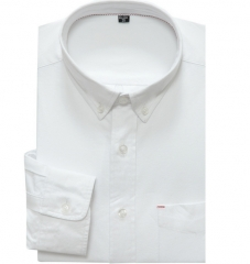 Cotton Oxford Women's Long Sleeve Shirt Lapel business shirt men white m