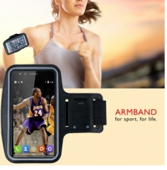 Outdoor Running Sports Armband Waterproof Case Key Pocket Black 4.7inch black 4.7inch