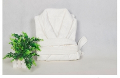 Men and Women's Cotton Thicker Bathrobe Hotel Bathrobe white one size