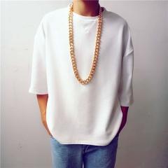 Men's fashion 45cm/60cm/95cm golden necklace golden 45cm