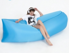 Lazy sofa outdoor sofa inflatable sofa portable sleeping bag folding air sofa bed blue