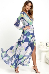 Explosive V Collar Open Dress 9905 as picture s