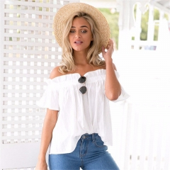 New word collar sexy lips shoulder 1126 white s