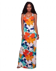 Europe and the United States long dress (in stock) # 7773 orange s
