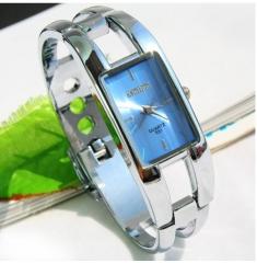 Simple fashion ladies square bracelet watches bule