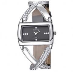 Fashion ladies diamond bracelet diamond bracelet quartz watch black