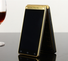 SGMSGMSV5 dual screen business flip phone Andrews smartphone golden