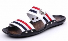 Summer men sandals casual beach fashion sandals white 38