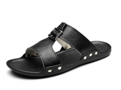 Cool sandals fashion slippers black 38
