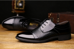 New men's pointed business dress shoes black 38