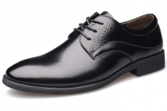 The new comfortable pointed casual shoes men 's suits leather shoes black 38