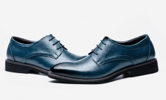 The new single shoes are loaded men 's shoes business men' s leather shoes navy 38