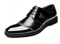 Men 's pointed lace dress shoes business car suture single shoes black 38