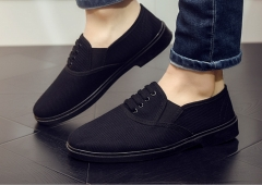 Black one pedal wear casual men shoes black 38
