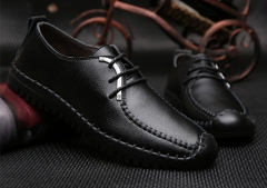The new manual pull leather leisure British men's fashion leisure shoes 831black 38
