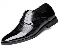 The new British business suits leather shoes with bright leather patent leather shoes black 38