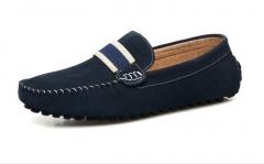 Leather Peas shoes men 's shoes British fashion trend sets of feet driver' s shoes black 38