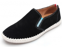 The new men 's leather leisure light men' s shoes black 38
