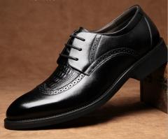 Brand business suits men 's shoes retro Bullock carved leather men' s casual shoes black 38