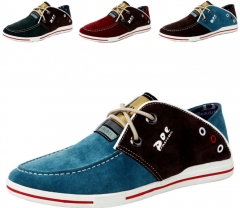 Daily casual personality trend men 's shoes fight color large yards canvas shoes breathable shoes blue 38