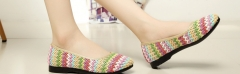 Old Beijing shoes spring new shoes flat shoes rainbow shoes yellow 35