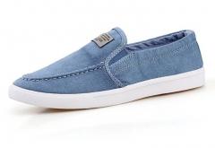 Canvas new single - color simple shoes men 's fashion light blue 39