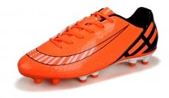The new artificial grass anti - slip non - slip soccer shoes long nails broken nails outdoors orange 38