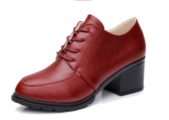 The new fashion shoes with leather shoes waterproof shoes red 35