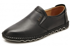 The new men 's shoes set foot leisure leather men and leather business casual shoes black 38