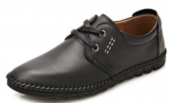 The new casual shoes rubber soles soft bottom soft surface British purely handmade casual shoes black 38
