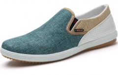 The new flax breathable shoes, a pedal fashion casual shoes lazy Peas shoes green 39