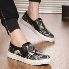 Explosion of a leather foot pedal leisure Butterfly Loewe shoes new fashion leather shoes black 38