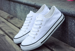 The new low canvas shoes to help shoes vulcanized shoes couple models white 38