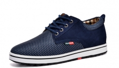 The new weaving casual shoes men 's men' s shoes in the breathable men 's shoes blue 38