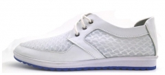 The new ultra-light lace casual shoes net round low to help ventilation shoes white 38