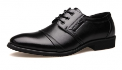 The new trend of men 's suits leather shoes casual shoes Wenzhou men low shoes black 38