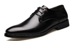 The new classic business dress shoes breathable men's shoes black 38