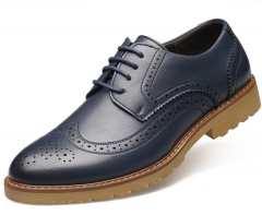 New men 's casual shoes with high - quality men' s shoes Bullock tide trend of men 's shoes navy 38
