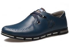 The new brand men 's casual shoes round casual shoes breathable men' s shoes casual shoes navy 38