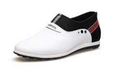 Breathable small white shoes male outdoor sports shoes inside the increased men's shoes white 38
