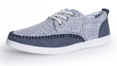 The new trend of casual shoes shoes slippers fashionable men 's canvas shoes gray+blue 39