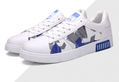 The new spring and summer shoes men 's casual shoes British youth tide shoes white shoes 3392blue 39