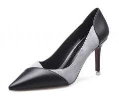 The new section of fine-heeled shoes with high-heeled shoes sexy sexy light mouth I like shoes grey 34
