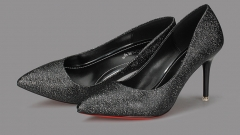 Pointed thin with the new women 's shallow mouth women' s shoes black 34