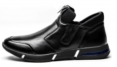Tide sports casual shoes Mens leather leather shoes black 38